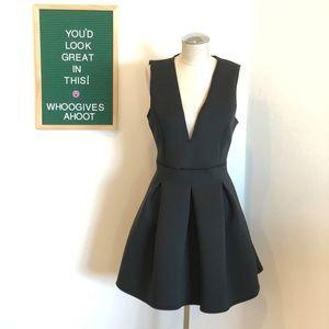 Black Backless Scuba Dress